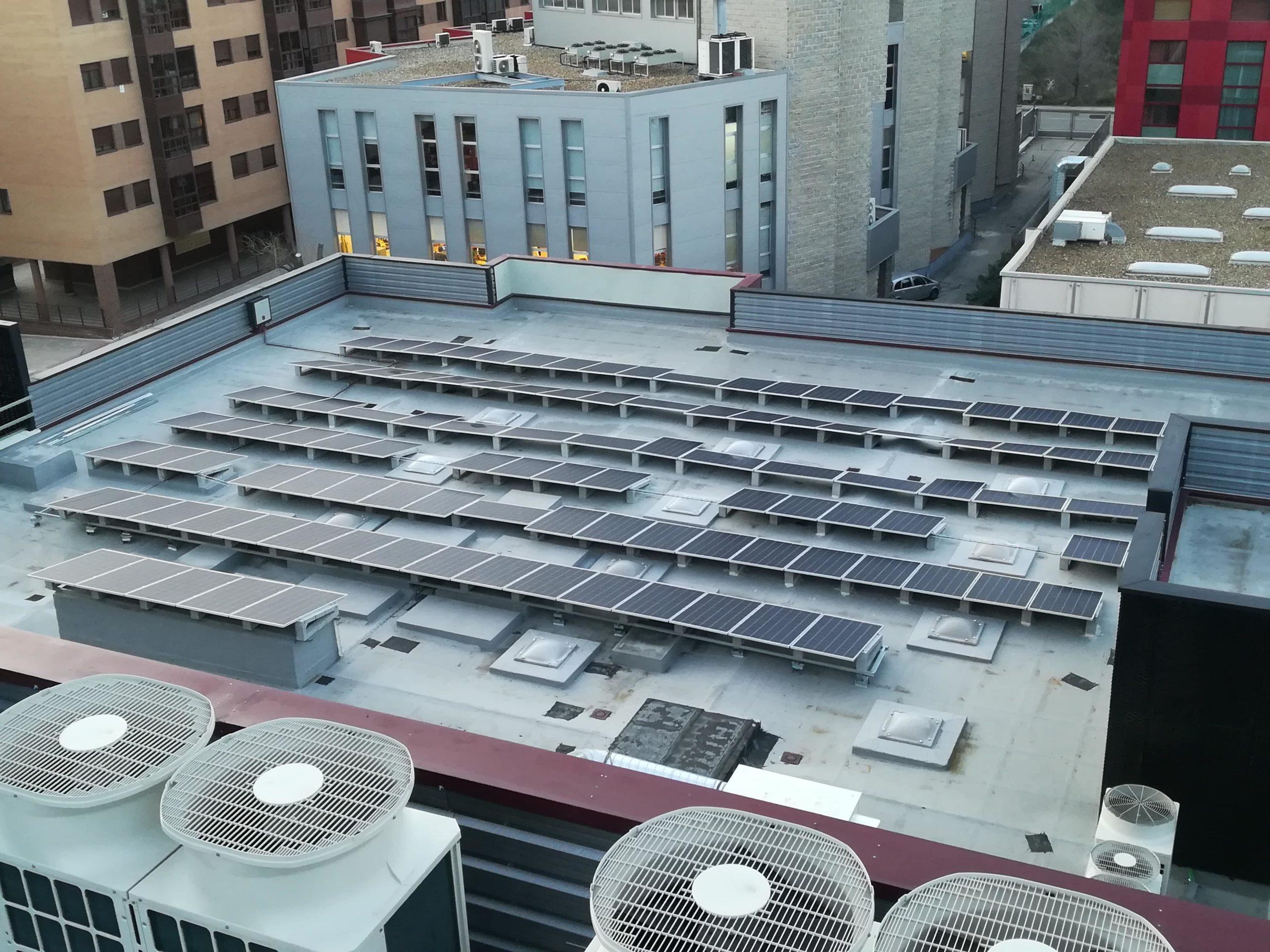 Instalación autoconsumo 81kW en oficinas Madrid