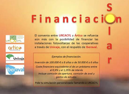 flyer financiación instalación fotovoltaica